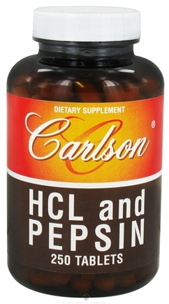 DROPPED: Carlson Labs - HCL and Pepsin - 250 Tablets CLEARANCE PRICED