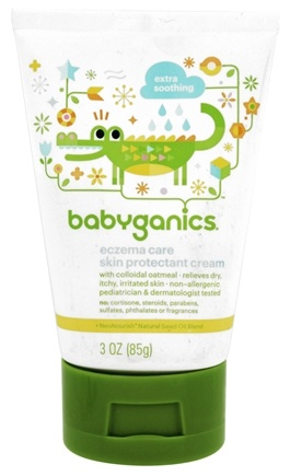DROPPED: BabyGanics - Moisturizing Eczema Care Skin Protectant Cream Fragrance Free - 3 oz.