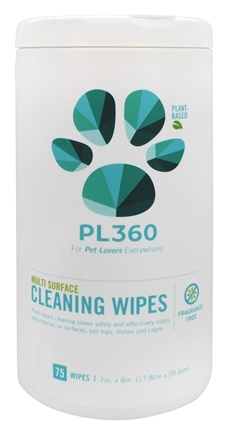 PL360 - Toy & Solid Surface Cleaning Wipes Fragrance Free - 75 Wipe(s)