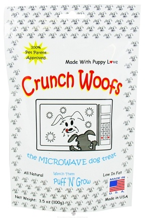 DROPPED: Crunch Woofs - The Microwave Dog Treat - 3.5 oz. CLEARANCE PRICED