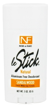DROPPED: Nature de France - Le Stick Natural Aluminum Free Deodorant Stick Sandalwood - 3 oz.