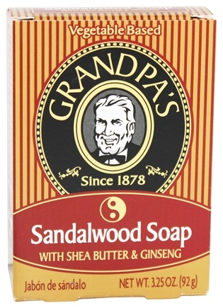 Grandpa's Soap Co. - Sandalwood Soap With Shea Butter & Ginseng - 3.25 oz.