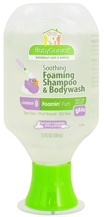 DROPPED: BabyGanics - Foaming Shampoo & Bodywash Foamin' Fun Soothing Lavender - 3.3 oz. CLEARANCE PRICED