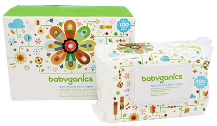BabyGanics - Face, Hand & Baby Wipes  Fragrance Free - 400 Wipe(s)