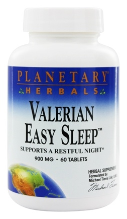 DROPPED: Planetary Herbals - Valerian Easy Sleep 900 mg. - 60 Tablets