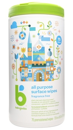 BabyGanics - All Purpose Surface Wipes Fragrance Free - 75 Wipe(s)