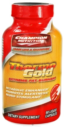 DROPPED: Champion Performance - Thermo Gold Extreme Fat Burner - 60 Liquid Capsules CLEARANCE PRICED