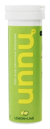 Nuun - Electrolyte Enhanced Drink Tabs Lemon + Lime - 12 Tablets