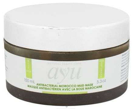 DROPPED: AYU Natural Beauty Care - Mud Mask Antibacterial Morocco - 5.3 oz. CLEARANCE PRICED