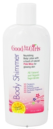 DROPPED: Good For You Girls - Natural Body Shimmer Lotion Fresh Citrus - 8 oz. CLEARANCE PRICED
