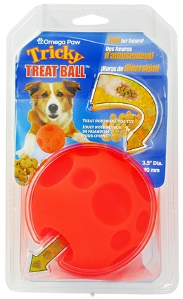 DROPPED: Omega Paw - Tricky Treat Ball Medium - 3.5 in. CLEARANCE PRICED