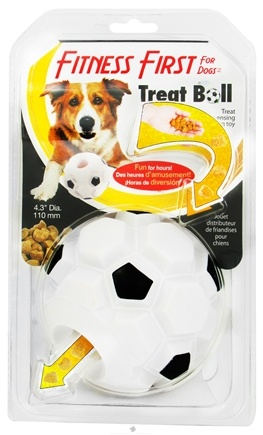 DROPPED: Omega Paw - Fitness First Treat Ball For Dogs - 4.3 in. CLEARANCE PRICED