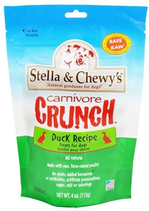DROPPED: Stella & Chewy's - Carnivore Crunchy Treats For Dogs Duck Recipe - 4 oz. CLEARANCE PRICED