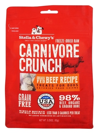 Stella & Chewy's - Carnivore Crunch Treats For Dogs Beef Recipe - 3.25 oz.