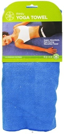 DROPPED: Gaiam - Yoga Towel Thirsty Blue - CLEARANCE PRICED