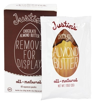 DROPPED: Justin's Nut Butter - Almond Butter Squeeze Pack Chocolate - 1.15 oz.