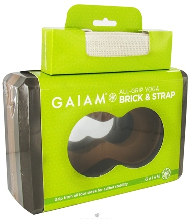 DROPPED: Gaiam - Yoga Brick All-Grip & Strap - CLEARANCE PRICED