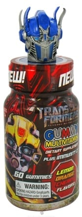 DROPPED: Health Science Labs - Transformers Gummy Multivitamin Plus Immunity C Lemon, Orange & Cherry Flavors - 60 Gummies CLEARANCE PRICED
