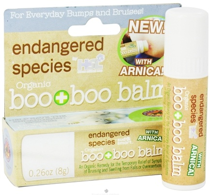 DROPPED: Health Science Labs - Endangered Species Organic Boo Boo Balm with Arnica - 0.26 oz. CLEARANCE PRICED