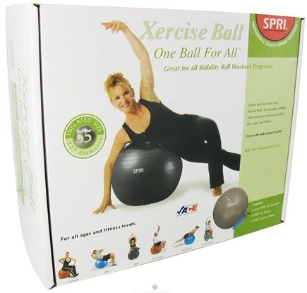 DROPPED: SPRI - Xercise Ball One Ball For All - 55cm Ball with Pump - 1 Ball(s) CLEARANCE PRICED