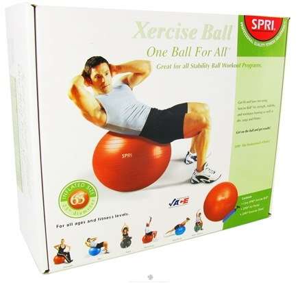 DROPPED: SPRI - Xercise Ball One Ball For All - 65cm Ball with Pump - 1 Ball(s) CLEARANCE PRICED