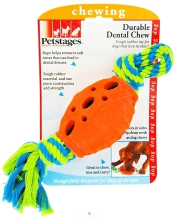 DROPPED: Petstages - Durable Dental Chew With Rope Dog Toy - CLEARANCE PRICED