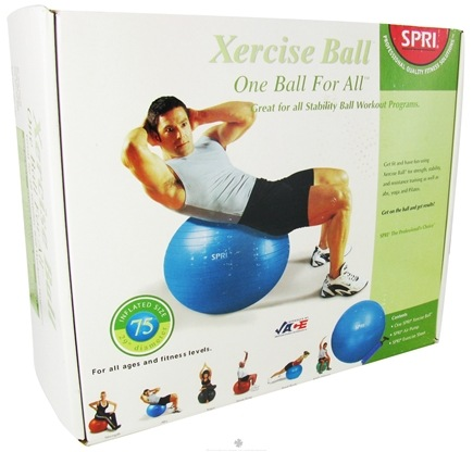 DROPPED: SPRI - Xercise Ball One Ball For All - 75cm Ball with Pump - 1 Ball(s)