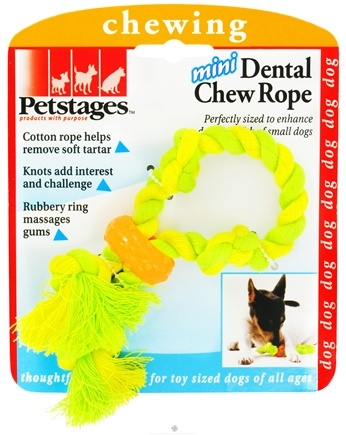 DROPPED: Petstages - Mini Dental Chew Rope Dog Toy - CLEARANCE PRICED