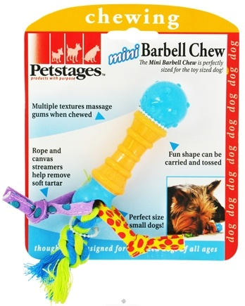 DROPPED: Petstages - Mini Barbell Chew Dog Toy - CLEARANCE PRICED
