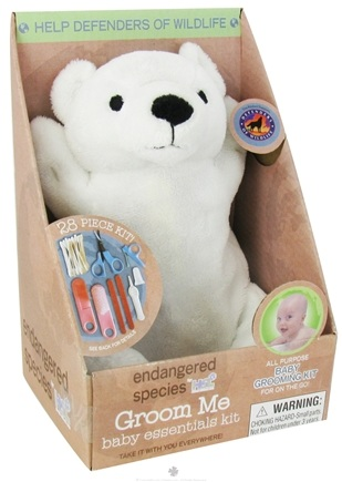 DROPPED: Health Science Labs - Endangered Species Groom Me Baby Essentials Kit Polar Bear - 28 Piece(s) CLEARANCE PRICED