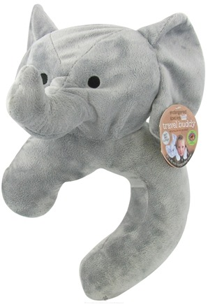 DROPPED: Health Science Labs - Endangered Species Travel Buddy Neck Pillow and Blanket Asian Elephant - CLEARANCE PRICED
