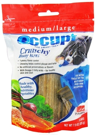 DROPPED: Petstages - Occupi Crunchy Busy Bars Medium/Large - 7.9 oz. CLEARANCE PRICED
