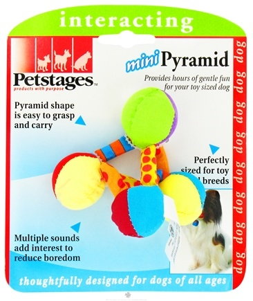 DROPPED: Petstages - Mini Pyramid Dog Toy - CLEARANCE PRICED