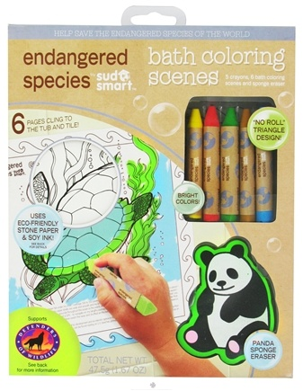 DROPPED: Health Science Labs - Endangered Species Bath Coloring Scenes Set - 1.67 oz.