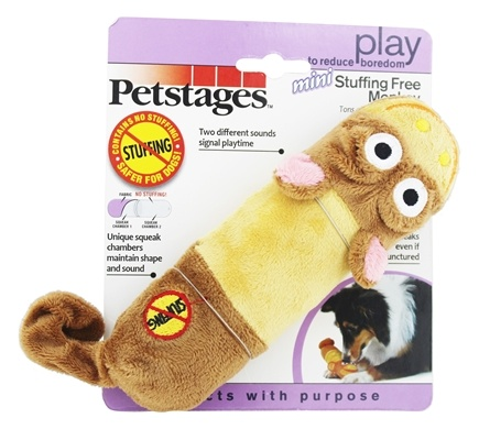 Petstages - Lil Squeak Monkey Dog Toy