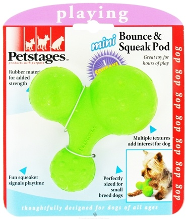 DROPPED: Petstages - Mini Bounce & Squeak Pod Dog Toy - CLEARANCE PRICED