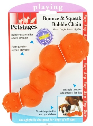 DROPPED: Petstages - Bounce & Squeak Bubble Chain Dog Toy - CLEARANCE PRICED