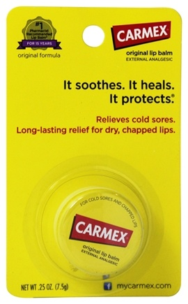 DROPPED: Carmex - Moisturizing Lip Balm External Analgesic Original - 0.25 oz.