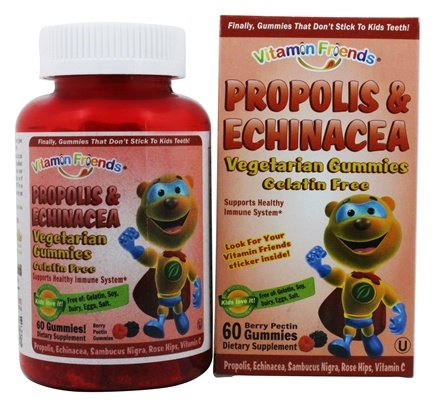 Vitamin Friends - Propolis & Echinacea Vegetarian Gummies Berry Flavor - 60 Gummies