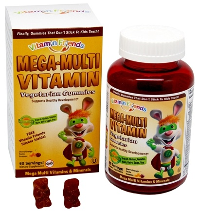 DROPPED: Vitamin Friends - Mega-Multi Vitamin and Mineral Vegetarian Gummies - 60 Gummies CLEARANCE PRICED
