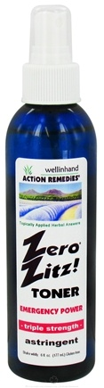 DROPPED: Wellinhand - Zero Zitz Toner Astringent Emergency Power - 6 oz. CLEARANCE PRICED