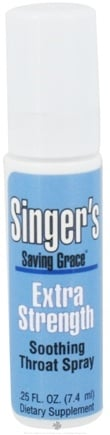 DROPPED: Herbs Etc - Singer's Saving Grace Soothing Throat Spray Extra Strength - 0.25 oz. CLEARANCE PRICED