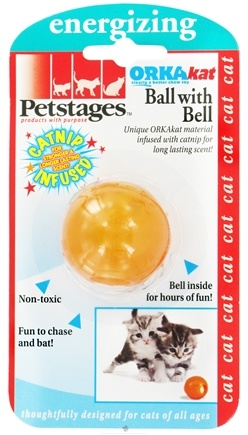 DROPPED: Petstages - OrkaKat Catnip Ball With Bell Cat Toy