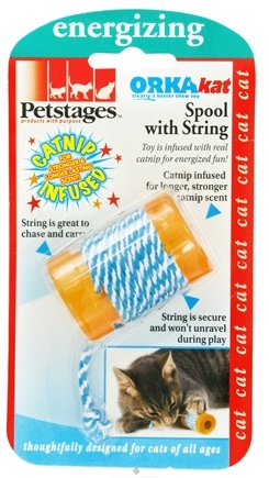 DROPPED: Petstages - OrkaKat Spool With String Cat Toy - CLEARANCE PRICED