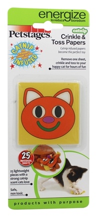 Petstages - Crinkle & Toss Catnip Scented Papers - 25 Sheet(s)
