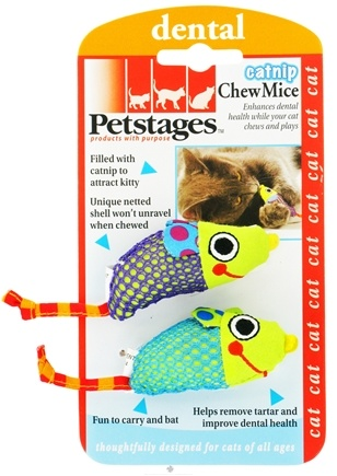 DROPPED: Petstages - Catnip Chew Mice Cat Toy - CLEARANCE PRICED