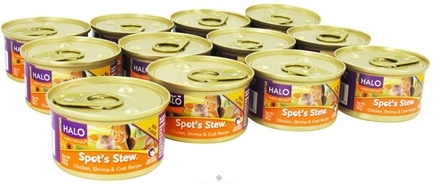 DROPPED: Halo Purely for Pets - Spot's Stew For Cats 3 oz. Chicken, Shrimp & Crab Recipe - 12 Can(s)