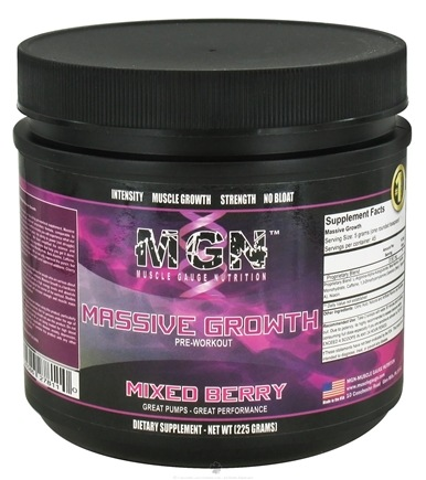 DROPPED: Muscle Gauge Nutrition - Massive Growth Pre Workout Mixed Berry - 225 Grams