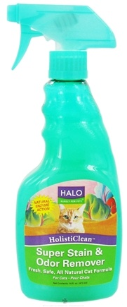 DROPPED: Halo Purely for Pets - HolistiClean Super Stain & Odor Remover For Cats - 16 oz. CLEARANCE PRICED