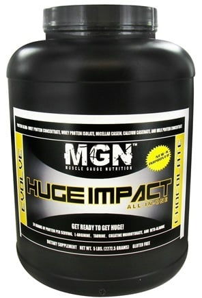 DROPPED: Muscle Gauge Nutrition - Huge Impact All-In-One Supplement Chocolate - 5 lbs. CLEARANCE PRICED
